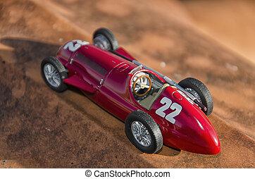 Red car of the Nuvolari era