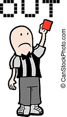 Red card - Creative design of red card