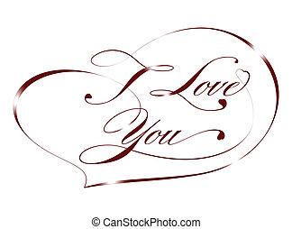 Red card %u2013 I Love You, vector