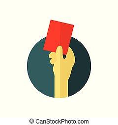 Red Card Warning Illustration