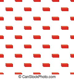 Red cargo container pattern