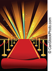 Red carpet - A vector illustration of red carpet background