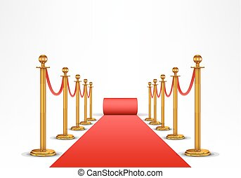 Red carpet and barrier rope