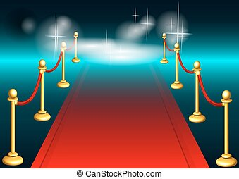 red carpet and light