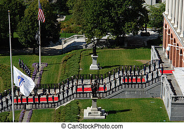Red Carpet and soldiers