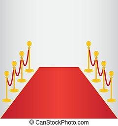 Red carpet, ceremonial