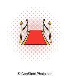 Red carpet comics icon