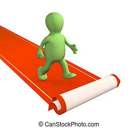 Red carpet  - Conceptual 3d image - red carpet