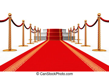 Red carpet - Creative abstract award ceremony and success in...