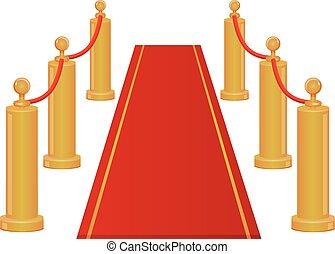 Red carpet entrance vector icon