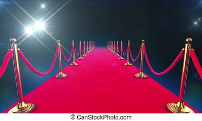 Red Carpet Event. Looped animation of a walk down and ...