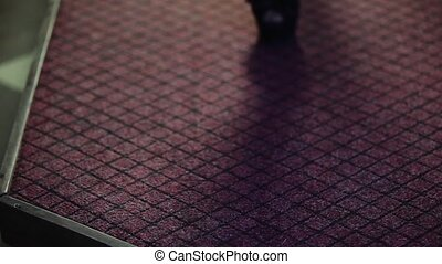 Red carpet female feet HD