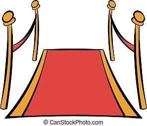 Red carpet icon cartoon