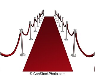 Red Carpet - Illustration of a red carpet entrance