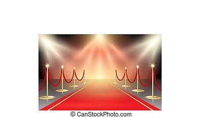 Red Carpet in Festive Illumination