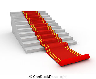 Red carpet on the success ladder