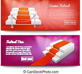 Red Carpet Stairs Banners