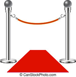 Red carpet %u2013 No entry isolated on white background
