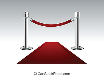 Red Carpet - Vector illustration of a luxury red carpet with...