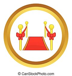 Red carpet vector icon