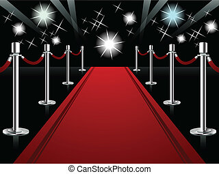 Red Carpet - Vector illustration representing perspective ...