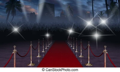 Red Carpet with Audio - Moving down the glamourous red ...