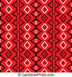 Red carpet with ethnic motifs, seamless pattern canvas