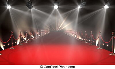 Red Carpet with Lights Video - Digital animated red carpet ...