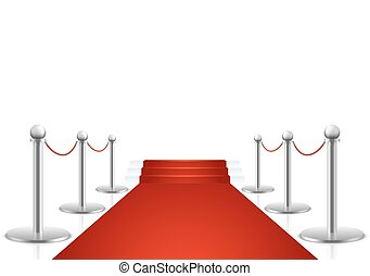 Red carpet with stairs vector illustration