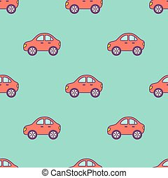red cars pattern.eps