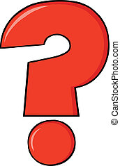 Red Cartoon Character Question Mark