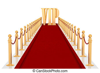 Red Cartpet - red carpet entrance with the stanchions and...