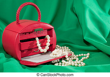 Red case with jewels