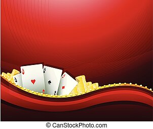 Red casino gambling background elements