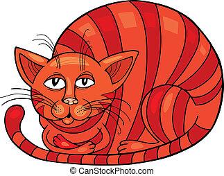 Red Cat - Cartoon illustration of Red Cat