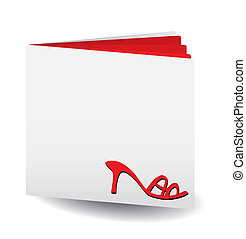 Red catalog of women\'s shoes, vector, see more at my...