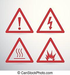 Hazard warning signs  Make your own hazard warning sign with
