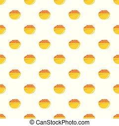 Red caviar pattern seamless vector