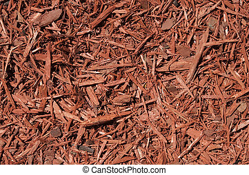 Red Cedar Mulch Background - Red cedar wood chips background