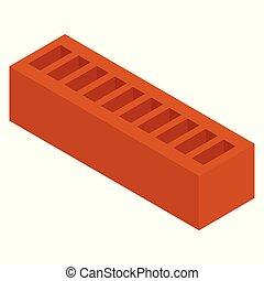 Red ceramic brick