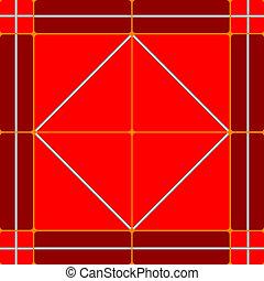 red ceramic tiles