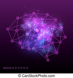 red, cerebro, neural, universo, resumen, bakground