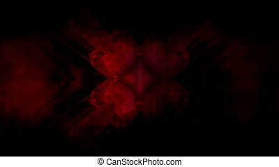 Red CG abstract looping animated HD background