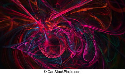 Red chaos pattern abstract motion background