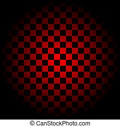 Red Checkered Background in circle. vector illustration eps 10