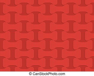 Red checkered bolts