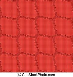 Red checkered diagonal Marrakesh