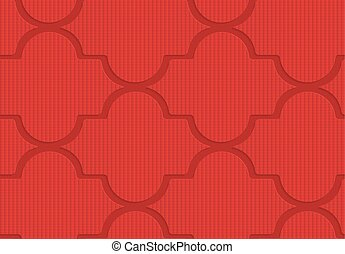 Red checkered Marrakesh