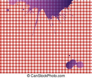 Red checkered picnic tablecloth