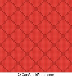 Red checkered rounded four foils